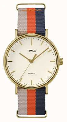 Timex Unisex weekender fairfax pulseira marrom laranja TW2P91600