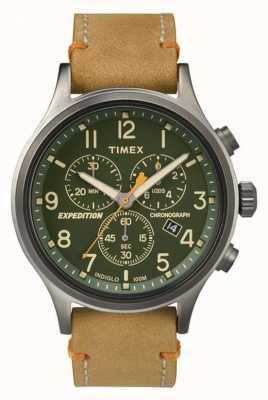 Timex Mens scout cronógrafo mostrador verde TW4B04400