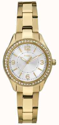 Timex Miami de ouro da mulher mini TW2P80100