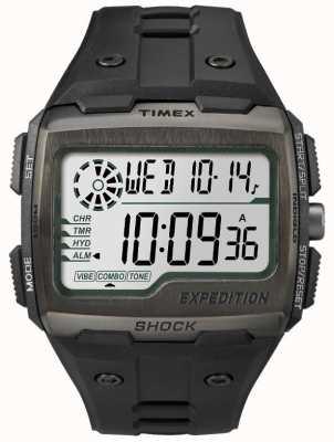Timex Cronógrafo de alarme de choque de grade Mens todo preto TW4B02500