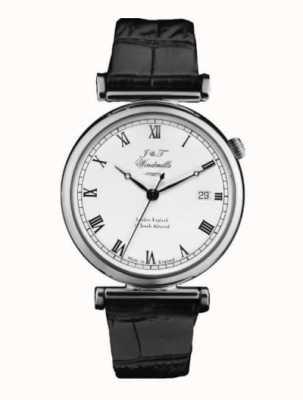 J&T Windmills Relógio mecânico bartholomew masculino de prata esterlina WGS10000/08
