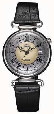 J&T Windmills Mens throgmorton relógio mecânico de prata esterlina WGS10002/50