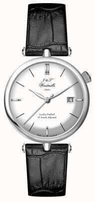 J&T Windmills Mens threadneedle mecahnical relógio de prata esterlina WGS10003/06