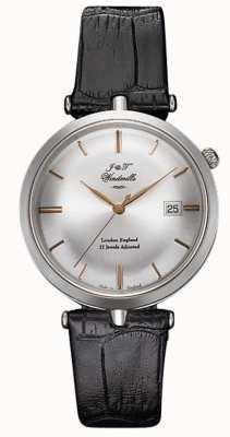 J&T Windmills Relógio mecânico masculino com agulha fina prata esterlina em ouro rosa WGS10001/06