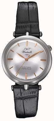 J&T Windmills Relógio mecânico feminino com agulha fina prata ouro rosa WLS10001/06
