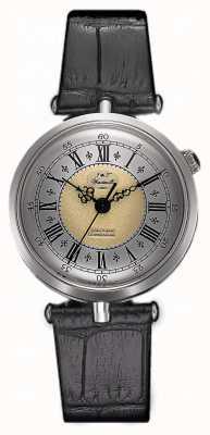 J&T Windmills Relógio mecânico throgmorton feminino de prata esterlina WLS10002/50