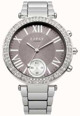 Lipsy Mostrador cinza pulseira de aço inoxidável das mulheres LP453