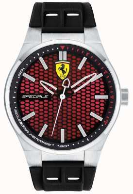 Scuderia Ferrari Mens pulseira de borracha preta speciale vermelho 0830353