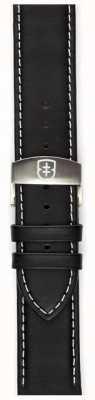 Elliot Brown Correia de implantação de couro preto oleado de 22 mm Mens apenas STR-L02