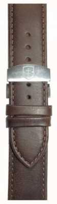Elliot Brown Correia de implantação de couro de sela encerada marrom 22mm para homem STR-L09