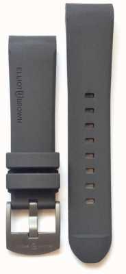 Elliot Brown Fivela de língua em aço de borracha cinza para homem de 22mm STR-R02
