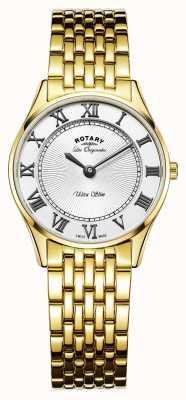 Rotary Womens les originales ultra slim mostrador branco LB90803/01