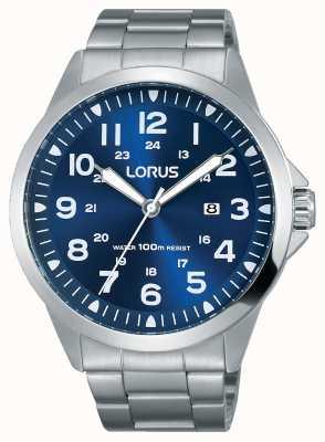 Lorus Mens pulseira de aço inoxidável mostrador azul RH925GX9