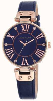 Anne Klein Mostrador azul pulseira de couro azul das mulheres 10/N9918RGNV