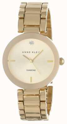 Anne Klein Dial de ouro pulseira de tom de ouro das mulheres AK/N1362CHGB