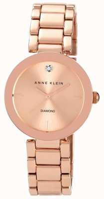 Anne Klein Pulseira de tom rosa de ouro das mulheres subiu discagem de ouro AK/N1362RGRG