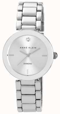 Anne Klein Mostrador prateado pulseira de aço inoxidável das mulheres AK/N1363SVSV