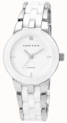 Anne Klein Mostrador branco pulseira de cerâmica branca das mulheres AK/N1611WTSV