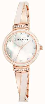 Anne Klein Mãe de pulseira de tom ouro rosa das mulheres de discagem pérola AK/N2216BLRG