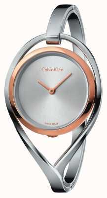 Calvin Klein Womens luz pequena pulseira de aço inoxidável caso de ouro rosa K6L2SB16