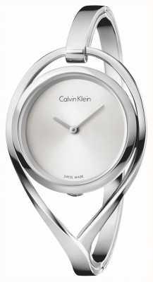 Calvin Klein Womens light pequeno aço inoxidável pulseira de discagem de prata K6L2S116
