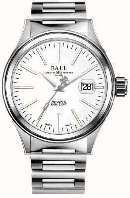 Ball Watch Company Mens bombeiro empresa auto pulseira de aço inoxidável NM2188C-S5J-WH