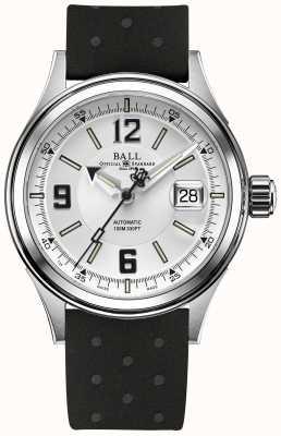 Ball Watch Company Correia de borracha automática do piloto do lutador NM2088C-P2J-WHBK