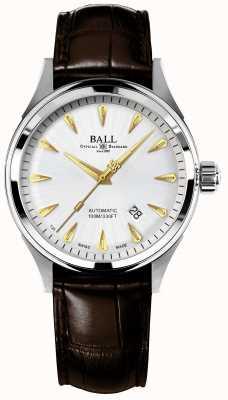 Ball Watch Company Correia de crockodile automático de piloto de corrida NM2288C-LJ-SL