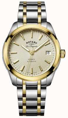 Rotary Legado das mulheres automático | pulseira de aço inoxidável / pvd em dois tons LB90166/03