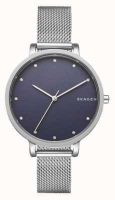 Skagen Relógio skagen prateado de senhora | cinta de malha de aço inoxidável | SKW2582