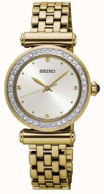 Seiko Mostrador branco prateado para mulher SRZ468P1