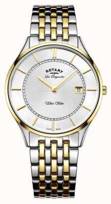 Rotary Mens pulseira de dois tons ultra slim GB90801/02