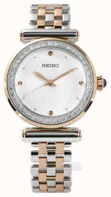 Seiko Womens dois tom rosa de ouro SRZ466P1