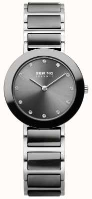 Bering Cerâmica cinza aço inoxidável para mulher 11429-783