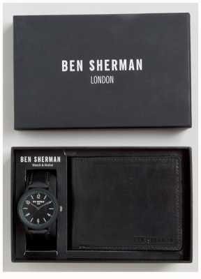 Ben Sherman Conjunto de presente de carteira preta para homem WB050BBG