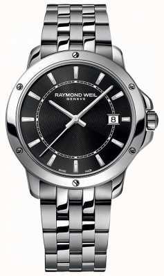 Raymond Weil Dial de indicador preto aço inoxidável tango Mens 5591-ST-20001