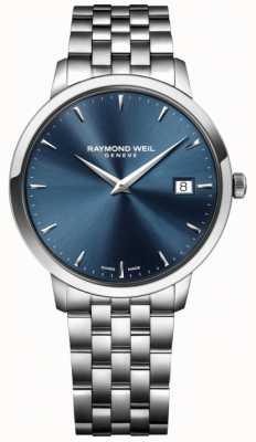Raymond Weil Movimento de quartzo dos homens de aço inoxidável azul 5488-ST-50001