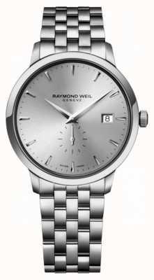 Raymond Weil Mens quarts slim aço inoxidável siver index dial 5484-ST-65001