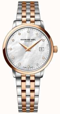 Raymond Weil Womans two tone subiu ponto diamante dourado 5988-SP5-97081