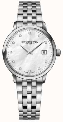 Raymond Weil Mulher toccata quartzo aço inoxidável prata diamante dot 5988-ST-97081
