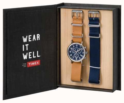 Timex Mens weekender cronógrafo dom conjunto TWG012800