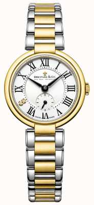 Senhoras Dreyfuss 1974 dois tons de ouro banhado relógio DLB00158/01
