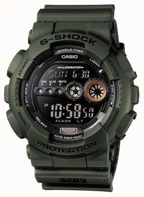 Casio Cronógrafo G-shock masculino verde GD-100MS-3ER