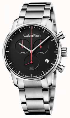 Calvin Klein Relógio chrono polido de cidade masculina K2G27141