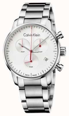 Calvin Klein Relógio de cronógrafo de cidade de aço inoxidável para homem K2G271Z6