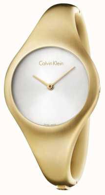 Calvin Klein Senhoras nuas pequeno relógio de ouro pvd K7G1S516