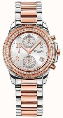 Thomas Sabo Crono glam para senhora | pvd em aço inoxidável / ouro rosa | WA0241-272-201-33