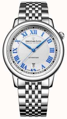 Dreyfuss Relógio de aço inoxidável masculino de 1925 DGB00148/01