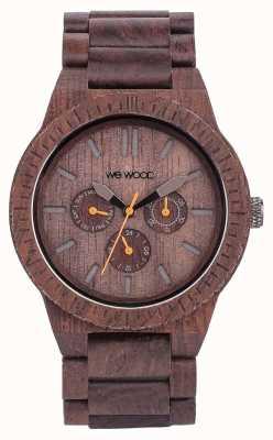 WeWood Mens kappa chocolate cinta marrom de madeira 70315500