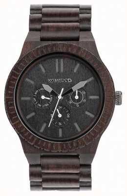 WeWood Mens kappa preto cinta preta de madeira 70315300